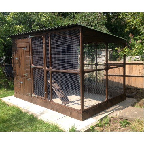 Walk In Chicken House chicken coop and large chicken run, walk in run with covered roof