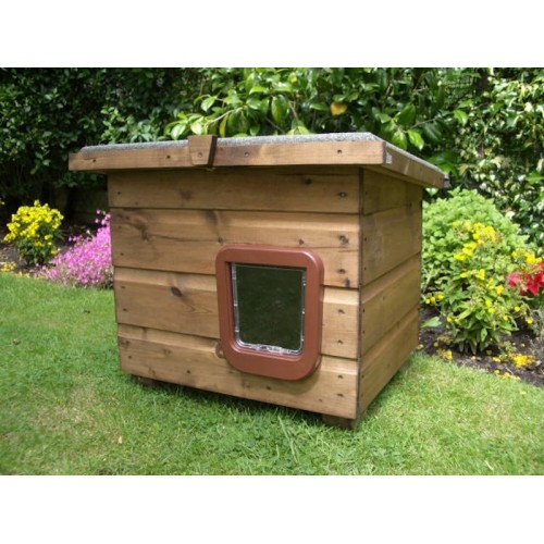 The Pent Outdoor Cat House